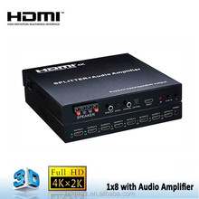 1x8 HDMI Splitter to coaxial With Amplifier , Full 4K Resolution HD Receiver