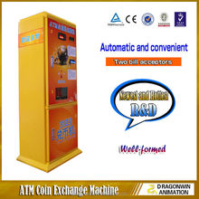 2015 Hottest laundry store indoor game arcade automatic coin exchange machine for shop
