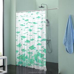 Sea world tropical fish polyester waterproof shower window curtain fish design shower curtains, curtain design 2015