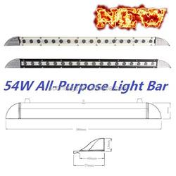 Mini Thinnest Design 54W CRE Front LED Work Light Bar, Cre LED Mining Bar, ATV SUV JEEP Vehicle(SR-0054A,54W)Spot or Flood Beam
