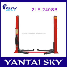 2015 hot sale two posts floor-plate lift, 2 posts hydraulic auto lift, auto car lift used