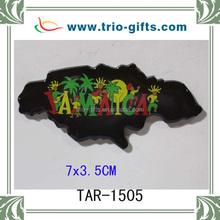 glue epoxy fridge magnet JAMAICA map