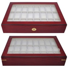New 24 Wood Watch Display Case
