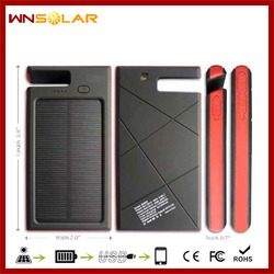Solar power bank 12000mah waterproof solar mobile phone charger usb solar charger panel