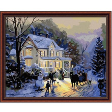 Canvas oil painting by numbers,Menglei oil painting