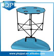 folding camping table for outdoor with four cup holders