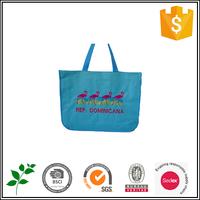 Blue cotton Reuseable Shopping Bag China wholesale