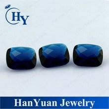 Alibaba China Checkerboard cut blue sapphire grid glass stones