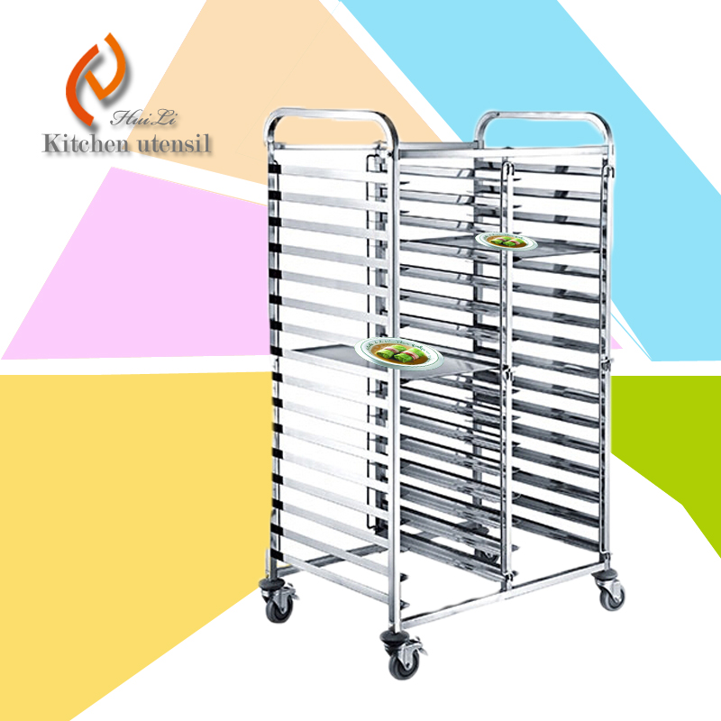 Stainless Steel Commercial Kitchen Gn Tall Tray Trolley Cart With Wheels For Serving 2015 New