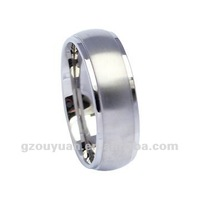 2012 Fashion new style rings, Charming tungsten polished and brushed ring, engagement wedding ring