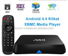 M8 4k TV BOX. ANDROID KITKAT 4.4. SHOWBOX FREE Live TECH SUPPORT