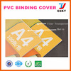 Plastic pvc book cover for stationery packing of pvc cover