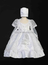 Hot selling wholesale white smocked communion dresses baby girl baptism gowns white christening todder lace dress