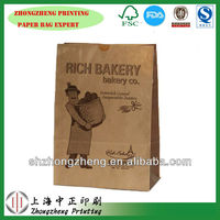 Brown Paper Sleeve bag (Bread Bag),Bags of bread, biscuit, sandwich for Western baking shop