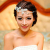 High quality crystal flower indian wedding bridal hair accessories for women