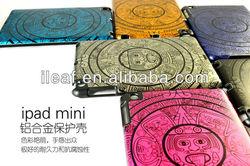 Newest design Egyptian culture PC+Metal hard case for iPad mini