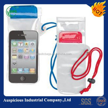 promotional water resistant mobile phone pvc iphone bag