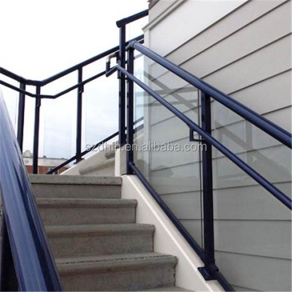 Wholesale glass balcony railing balcony railing design for Exterior glass railing