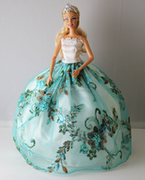 children barbie doll lovely change clothes games beautiful clothes organza fabric