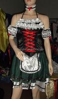 2015 Walson S-2XL Oktoberfest Costume Fancy Dress Up German Heidi Dirdnl Leiderhosen Beer Maid