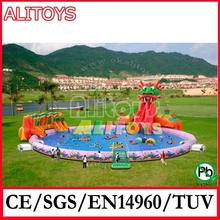 Giant hot selling outdoor inflatable park water pool for beach