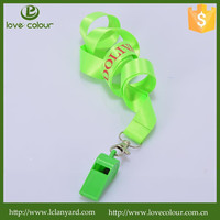 High Quality Cheap Custom Whistle Lanyard Free Sample