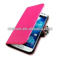 Elegant Diamond Litchi Grain leather Cover Case For Samsung Galaxy S4