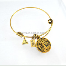 Top sale stainless steel expandable wire bangle