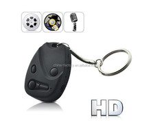 Built-in Li-polymer Battery 720P mini dvr 808 car key micro hidden camera