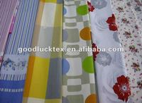 100% polyester fabric leftover of printed microfiber fabric
