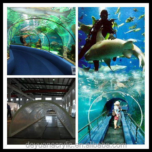 Public acrylic aquarium acrylic fish tank cylindrical for Cylindrical fish tank