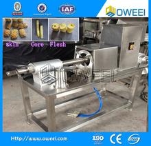High efficiency pineapple peeling and pulping machine