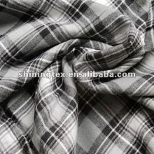 for shirt100% cotton yarn dyed flannel fabric