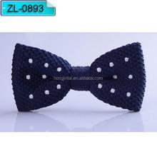 Azul oscuro color blanco dot Micro fibra pajarita pajarita moda ZL0893