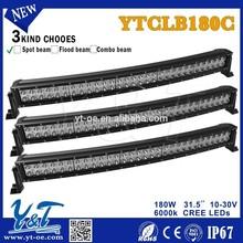 180W waterproof 10-30v daylight off road led light bar