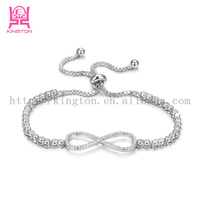 fashion stainless steel infinity love bracelet