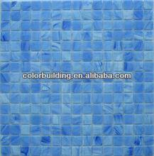 net mounted pool blue glass mosaic