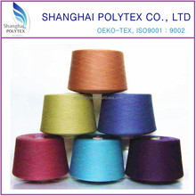 100% dope dyed polyester spun yarn 18S-32S -recycled polyester spun yarn for knitting
