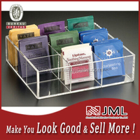 factory sale 3mm transparent acrylic tea bag boxes clear acrylic box acrylic squares organizer