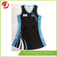 Best imported ink 100% polyester netball dress
