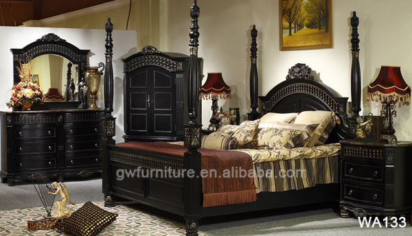Hand Carved Antique Style Cheap Home Wood Furniture In Lahore Pakistan Wa134