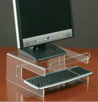 Acrylic Monitor Stand with Keyboard Storage