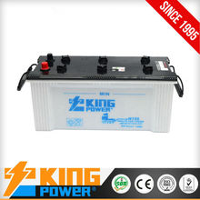12V Korea design rechargeable dry charged car batteries N150 150amp