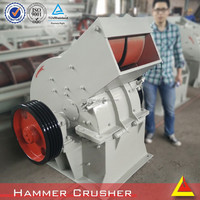 road construction machinery 6-12t/h hammer crusher with 0-6mm output size in China