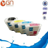 Refillable ink cartridge 11 for hp used for HP Color Inkjet printer CP1700
