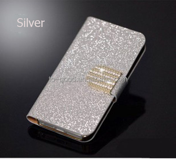 Luxury Diamond Waterproof PU Leather Wallet Cover With Stand Function And Card Holder,Mobile Phone Case For Nokia Lumia 520