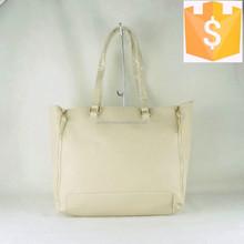 Newest zipper decoration custom PU leather pretty girls handbag 2015