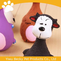 Funny animal face vinyl dog toys pet products