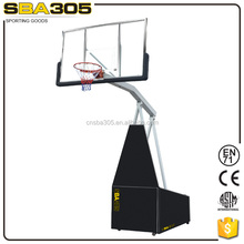 electric movable basketball stand outdoor