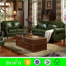chesterfield sofa replica / antique domino sets / European classic leather sofa